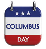 Columbus Day. Isolated calendar icon Stock Photo
