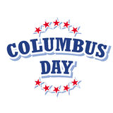 Columbus day logo Royalty Free Stock Photography