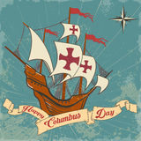 Columbus day. Old schooner. Santa Maria Royalty Free Stock Photography