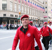 Columbus Day Parade. Curtis Sliwa the ceo of the guardian Stock Photo