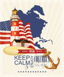 Columbus day poster. Vector illustration Royalty Free Stock Photos