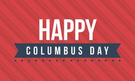Columbus day on red background. Vector illustration Stock Photo