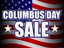Columbus Day Sale vector illustration