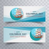 Columbus Day. Sale template banner Stock Photo