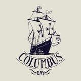 Columbus day. santa maria sign Stock Photography