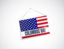 Columbus day us hanging flag Royalty Free Stock Photos
