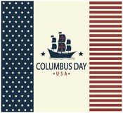 Columbus day. Usa card or background. vector illustration Royalty Free Stock Photo