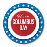 Columbus Day vector background. USA patriotic template with text, stripes and stars for posters, decoration in colors of Vector Illustration