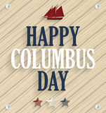 Columbus Day. Wooden background with ship Stock Photos