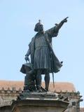 Columbus-Denkmal stockbilder