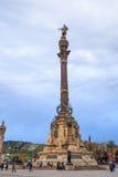 Columbus-Denkmal, Barcelona Lizenzfreies Stockbild