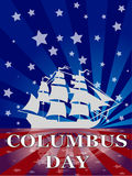 columbus dzień royalty ilustracja