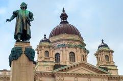 Columbus en gerechtsgebouw royalty-vrije stock afbeelding