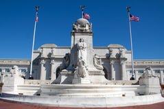 Columbus Fountain royalty free stock photo