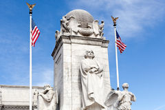 Columbus Fountain Union Station Washington dc Royalty Free Stock Images