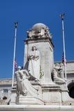 Columbus Fountain Union Station Washington DC Arkivfoto