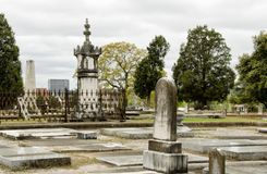 Historic Linwood Cemetery in Columbus Georgia USA royalty free stock photography