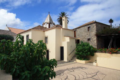 Columbus' house and courtyard - Porto Santo royalty free stock photography