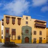 Columbus House Las Palmas Gran Canaria. Columbus House case casa de Colon Vegueta in Las Palmas de Gran Canaria Spain stock photography