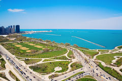 Columbus and Lake Shore Drive Royalty Free Stock Photos