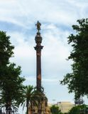 Columbus Monument in Barcelona-  Lizenzfreies Stockbild