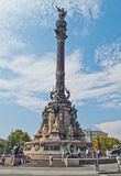 Columbus Monument, Barcelona Stock Photo