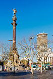 Columbus monument in Barcelona Royalty Free Stock Photos