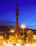 Columbus monument. Barcelona Stock Photos