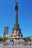 Columbus Monument in Barcelona, Spain Royalty Free Stock Photography