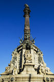 Columbus Monument Barcelona Spain Royalty Free Stock Images