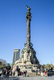 Columbus Monument, Barcelona Stock Images