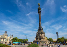 Columbus Monument in Barcelona Stock Photography