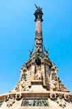 Columbus monument, Barcelona. Spanien. Royaltyfria Foton