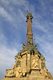 Columbus Monument, Barcelona. Monument to Christopher Columbus at the lower end of La Rambla, Barcelona, Catalonia, Spain Stock Image