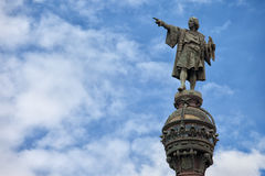Columbus Monument in Barcelona Royalty Free Stock Images
