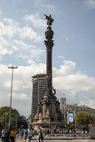 Columbus Monument in Barcelona Royalty Free Stock Photo