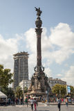 Columbus Monument in Barcelona Stock Images