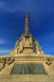 Columbus Monument in Barcelona. Under the blue sky stock photo