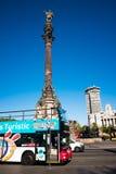 Columbus Monument, Barcelone, Espagne image stock