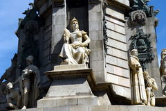 Columbus Monument is 60 m. It is located at finish La Rambla and built in 1888. Royalty Free Stock Images