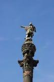 Columbus monument på sjösidan av Barcelona Fotografering för Bildbyråer