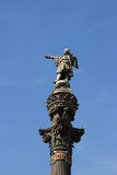Columbus monument on the seafront of Barcelona Stock Image