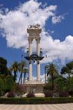 Columbus Monument, Seville. Columbus Monument in the park catalina de ribera in Seville Stock Photo