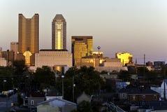 Columbus Ohio au crépuscule Image stock