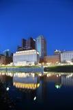 Columbus, Ohio bij schemer stock foto