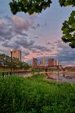 Columbus Ohio céntrico tirado en la oscuridad Fotografía de archivo