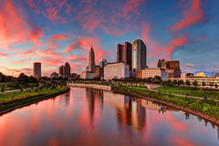 Columbus Ohio cityscape Royaltyfri Foto