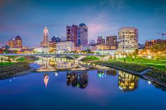 Columbus, Ohio, de V.S. stock afbeeldingen