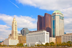Columbus Ohio. Downtown buildings on a sunny day Stock Images