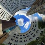 Columbus Ohio Pinwheel. Photo of Columbus, Ohio with pinwheel effect royalty free stock image